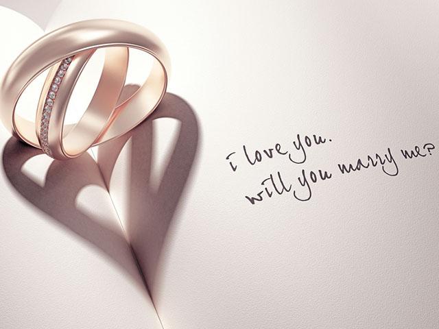 指輪とプロポーズの言葉